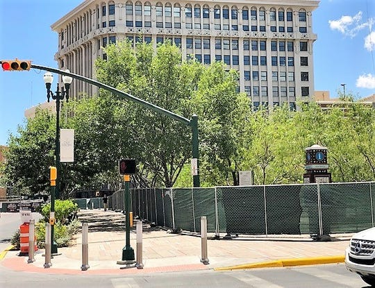 San Jacinto Plaza closes for two days to host Triple-A All-Star Game banquet in Downtown El Paso.