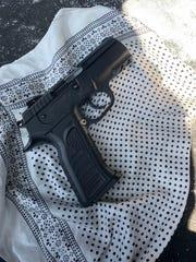 A 9 mm handgun seized by Oxnard police.