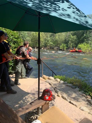 Tulare County sheriff's deputies and firefighters responded to a swift water rescue on July 5, 2019, at the Kaweah River in Three Rivers.