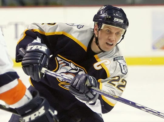 Greg Johnson was taken by the Nashville Predators in the expansion draft and was team captain from 2002-06.
