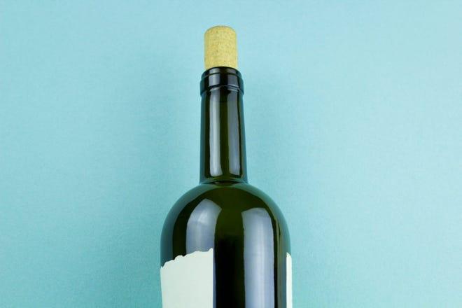 Photo of wine bottle on flat-lay