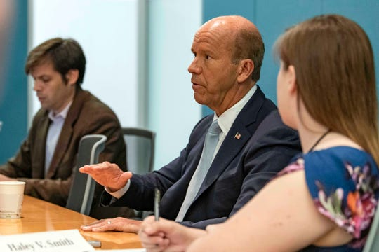Rep. John Delaney, D-Md., discusses his presidential candidacy with the USA TODAY Editorial Board on July 8, 2019.