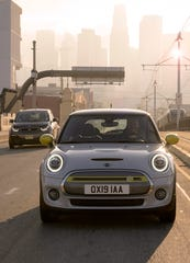 The MINI Cooper SE electric car.