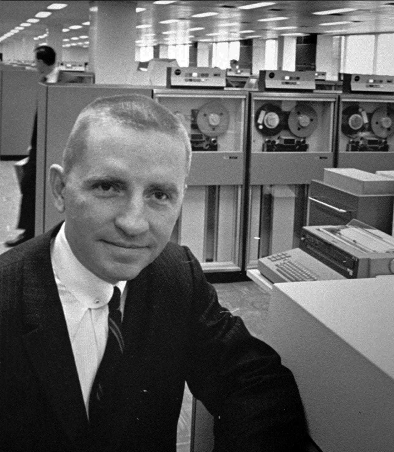 H. Ross Perot is shown in this Oct. 30, 1968, file photo, as Electronic Data Systems Corp. chairman. In 1984 Perot, founder of EDS, sold his company to GM for $2.5 billon. On Monday, Aug. 7, 1995, GM announce it will spin off EDS, making it an independent company.