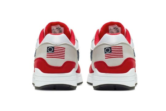 """Nike has chosen not to release the Air Max 1 Quick Strike Fourth of July as it featured the old version of the American flag,"" the company said in a statement provided to USA TODAY Sports."