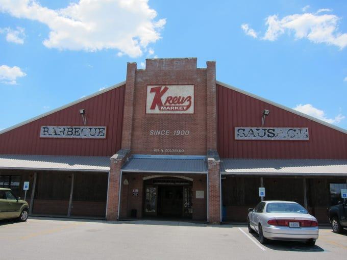 Kreuz Market, since 1900, is a huge landmark that represents the essence of Texas-style BBQ.