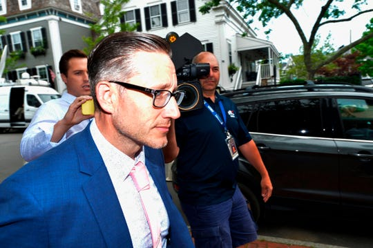 Massachusetts Utter Trooper Gerald Donovan walks previous the press in the future of a recess at a pre-trial hearing in the Kevin Spacey sexual assault case at Nantucket District Court docket in Nantucket, Massachusetts on July 8, 2019.