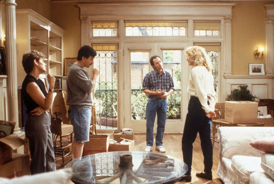 "Four comedic pros with great timing: Carrie Fisher (from left), Bruno Kirby, Billy Crystal and Meg Ryan in ""When Harry Met Sally ..."""