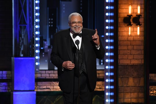 "James Earl Jones, seen here in 2007 accepting a lifetime achievement Tony Award, returns as the voice of Mufasa 25 years after Disney's original ""Lion King."""