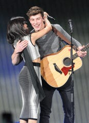 Cabello and Mendes duetted at 93.3 FLZ's Jingle Ball concert in 2015.