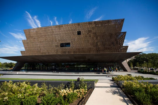 A view of The National Museum of African American History and Culture prior to a media preview in Washington, DC, USA, 14 September 2016.