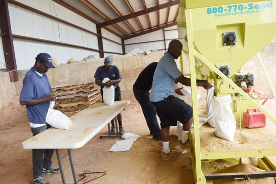 City of Alexandria workers began filling sand bags Wednesday, July 10, 2019 in preparation for the forecasted storms that may hit our area over the weekend.