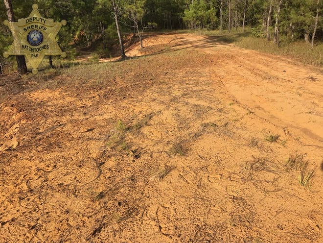 This photo from the Natchitoches Parish Sheriff's Office shows a trail off Preston Hayes Road where a Marthaville man was found dead July 9. He had been ejected and crushed by an all-terrain vehicle.
