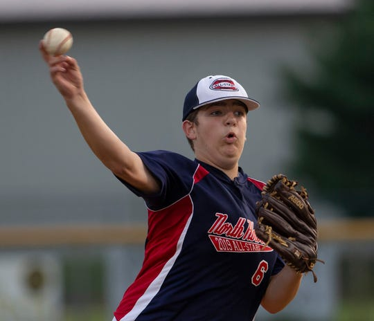 North Howell starting pitcher Logan Koepel. North Howell defeats Ocean in District 11 Little League Championship game in Howell, NJ on July 9, 2019.