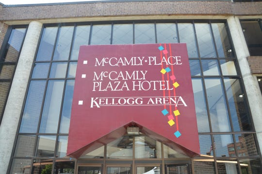 McCamly Place and McCamly Plaza Hotel are privately owned and the city of Battle Creek owns Kellogg Arena, but all three are connected.