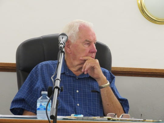 Town of Sanford Supervisor Dewey Decker at the Sanford Town Board meeting Tuesday, July 9, 2019.