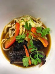 Chef Tony Durso recently made pork ramen as a special for The Green Leaf in Palm Bay.