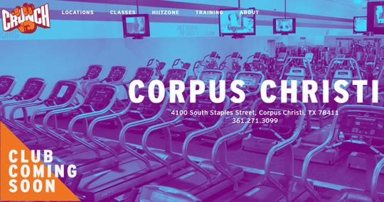 Crunch Fitness is coming soon to Corpus Christi at 4100 S. Staples St.