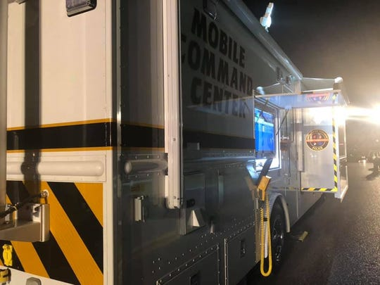 Gloucester Township's Mobile Command Center was at the scene of a fatal pedestrian accident on Sicklerville Road Tuesday night. Police said the driver in hit-and-run crash surrendered during the investigation.