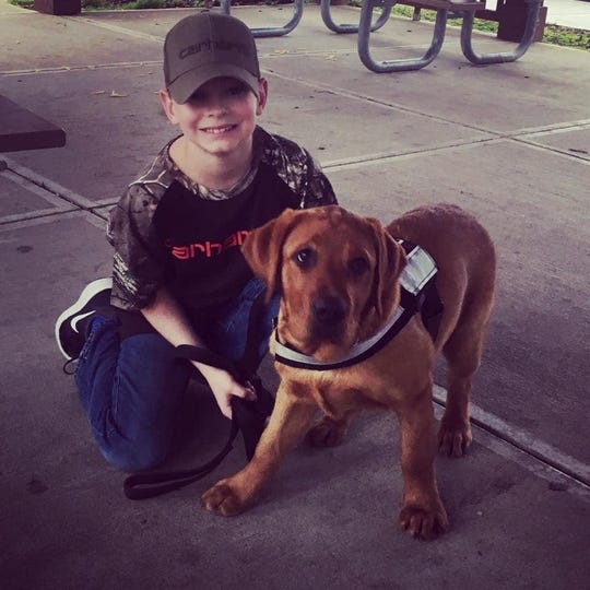 Mason Green was another local child who's dream was granted by Dream Factory. Green, who has diabetes, was given a service dog that helps alert to his condition.