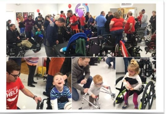 The next May We Help adaptive equipment swap is July 14 in Mariemont.