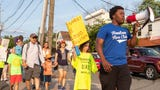 Township citizens and local leaders assembled on the Irving School Playground on Tuesday at 6 p.m. and marched to  the Borough Hall to bring attention to the plight of immigrant families separated by the federal government.