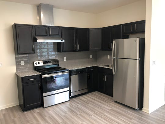 A kitchen in the newly constructed student housing at 510 Hamilton Street in the Somerset section of Franklin Township.