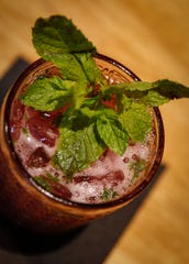 Blueberry Julep at the Motley School Tavern in Des Moines.