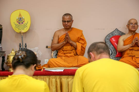 Ajahn Thanaphat Tukaeo, the abbot of the Midwest Buddhist Meditation Center in Warren, on July 7, 2019.