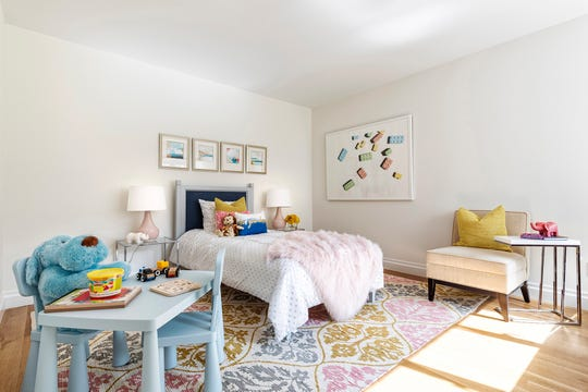 A child's room with a mix of pastel colors creates a soothing yet bright color palette. (Design Recipes/TNS)