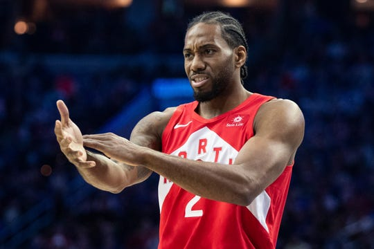 Kawhi Leonard signed a three-year max that could be worth nearly $110 million, though the third season is at Leonard's option.