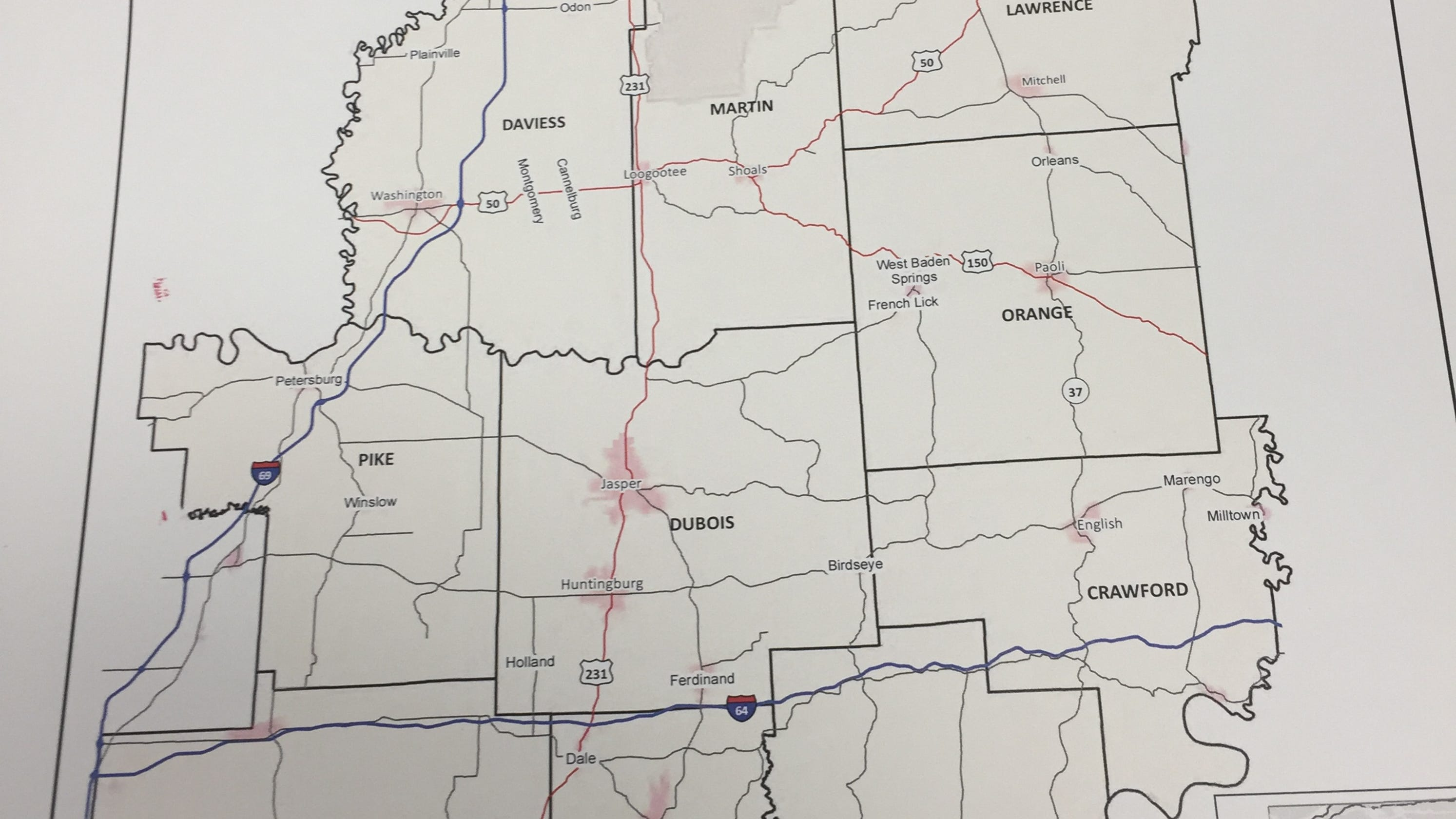 New highway project e for rural SW Indiana on