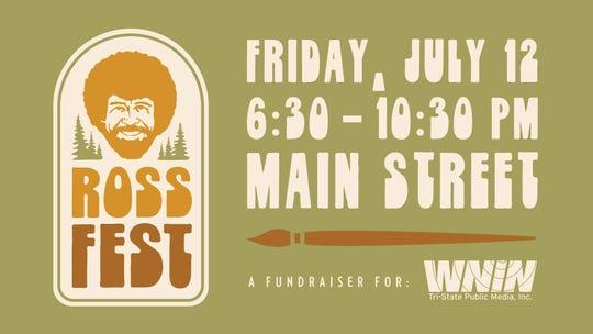 Ross Fest is an outdoor painting festival on Main Street outside WNIN studio.