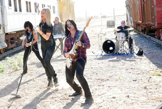 The Guess Who, featuring, from left: bassist Rudy Sarzo, vocalist Derek Sharp, keyboardist Leonard Shaw, guitarist Will Evankovich and drummer Garry Peterson, will perform July 19 at the Fond du Lac County Fair.