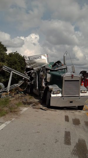 Thirty-seven cows were killed along a Hendry County road Wednesday when the animals shifted inside the truck hauling them, forcing it to rollover.