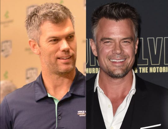 Green Bay Packers kicker Mason Crosby, left, and actor Josh Duhamel