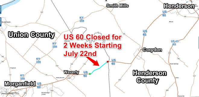 A section of U.S. 60-West is about to close for several weeks, and pavement work will continue for months after that.