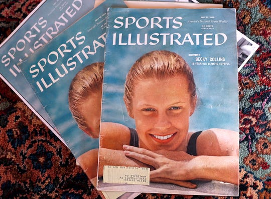 Becky Collins appeared on the cover of Sports Illustrated 60 years ago at age 15.  She is a 1961 graduate of Broad Ripple High School.