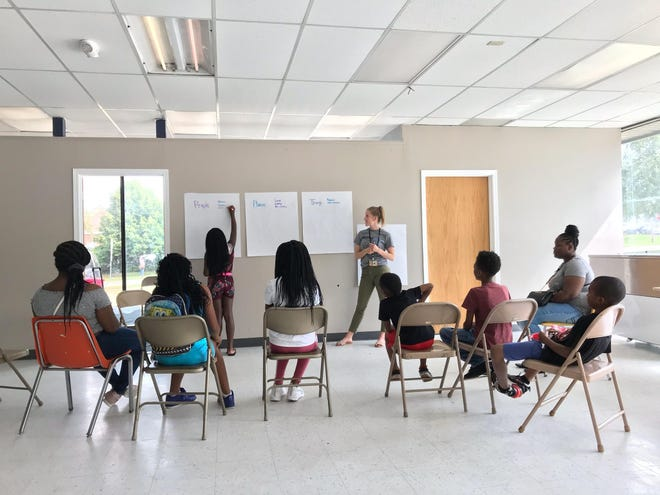 Johnson County Public Health Department hosted a health mapping exercise Tuesday, July 9, 2019, at the Dream Center in Iowa City.