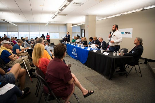 City council candidates speak at a forum held by the League of Women Voters at the News Sentinel, Tuesday, July 9, 2019.