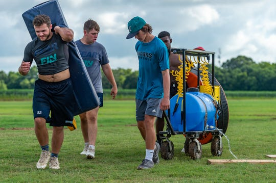 Southside High School Football trainer Alex Landry. Monday, July 8, 2019. ,