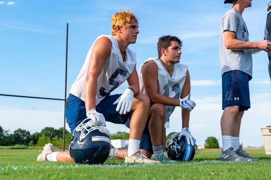 Andrew Stolzenthaler  and Jaime Cordova- Ascension Football. Tuesday, July 9, 2019.