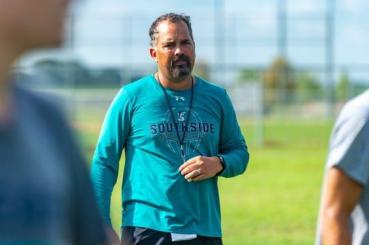 Southside High School Head Football  Coach Josh Fontenot.  Monday, July 8, 2019. ,