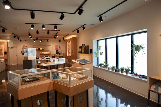 A look inside Michigan's first Skymint medical marijuana dispensary that opened Tuesday in Bay City.