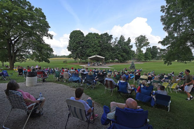Ontario's Marshall Park was rocking with the classic rock Tuesday evening to the music of The Return. Concerts in the park occur on Tuesdays and more information can be found at ontarioohio.org