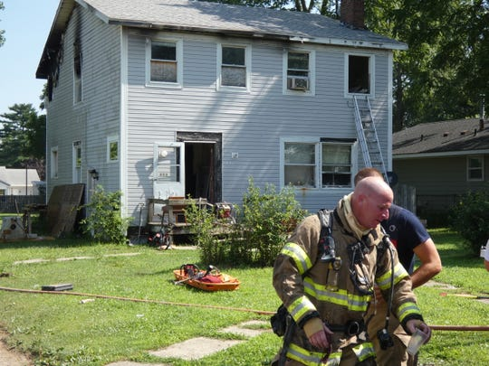 The triplex at 496 E. Fairground Street was severely damaged in a fire that Marion City firefighters believed was caused by an electrical issue.