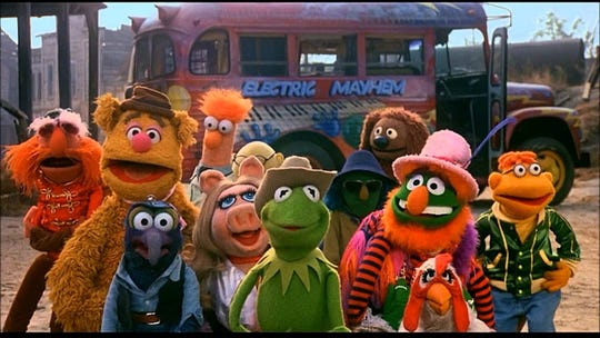 "A froggie went a-courtin' (among other activities) in ""The Muppet Movie,"" a 1979 feature that returns Thursday to theaters."