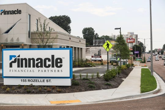 A new Pinnacle Financial Partners building is seen at 155 Rozelle along Union Avenue, July 10, 2019.