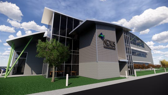 A rendering of the Nexus Pharmaceuticals Inc. facility proposed for the village of Pleasant Prairie.