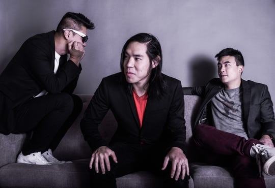 Two of the three-member band The Slants will be in Montgomery on July 17 at Read Herring bookstore.